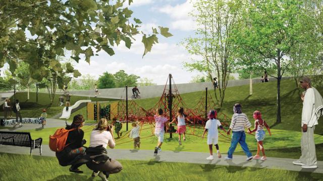 L Pocket Park Design National High School Architecture